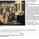 Un roman historique «Au sein de Paris» sur les enfants amenés à Paris ou trouvés, élevés par les nourrices