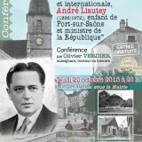 Jeudi 20 octobre 20h, Port-sur-Saône, Conférence sur André Liautey par Olivier Verdier