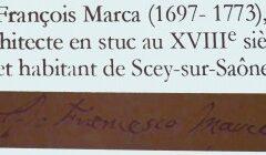 Samedi 8 avril 2017 Conférence de Mickaël Zito : «François Marca, architecte en stuc au XVIIIe siècle et habitant de Scey-sur-Saône»