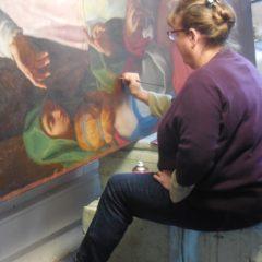 Le 21 mars 2018, des sociétaires de la SALSA ont visité le Centre de restauration des Œuvres d'Art