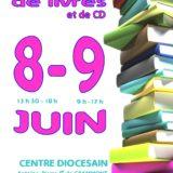 Les 8 & 9 juin, vente de livres à la bibliothèque diocésaine