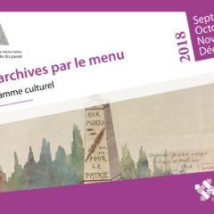 Programme septembre-décembre 2018 des Archives départementales de la Haute-Saône