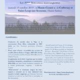 Samedi 19 octobre 2019, Corbenay, Histoire de bois